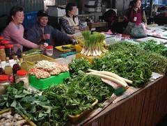 吉安黃昏市場原住民野菜的生物多樣性。(攝影:陳建志)