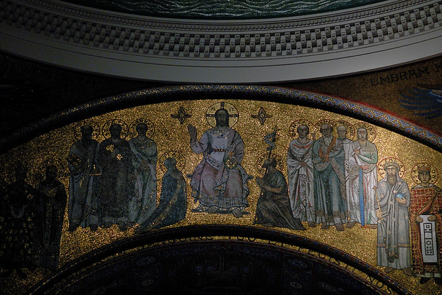 Cathedral Basilica of Saint Louis, in Saint Louis, Missouri, USA - mosaic of Christ the King copy