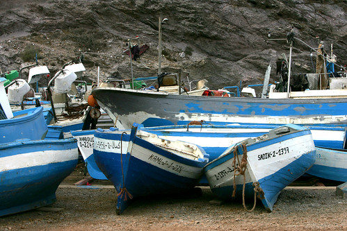 road boats coast fishing harbour morocco n16 sidi hssain