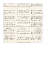 7x7 inch sq JPG Christmas GF Vintage sheet music SMALL SCALE