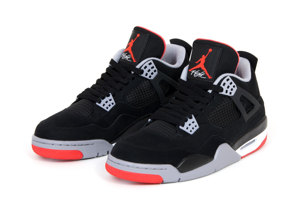 concrete newsletter nike jordan iv retro 39 breds 39. Black Bedroom Furniture Sets. Home Design Ideas