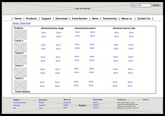 Wireframe of Download Page