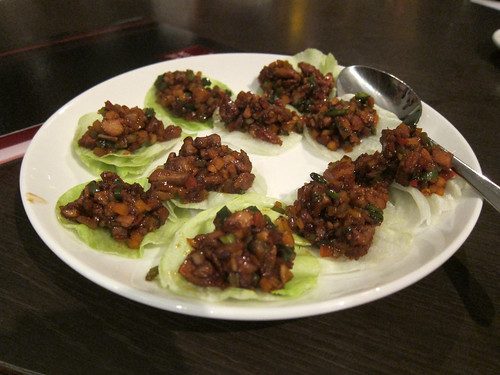 Spicy Minced Duck with a Lettuce Wrap