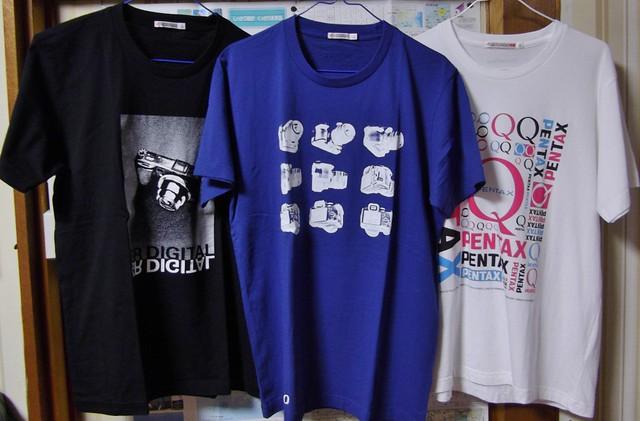 GR DIGITAL Tシャツ、PENTAX K-30 Tシャツ、PENTAX QTシャツ