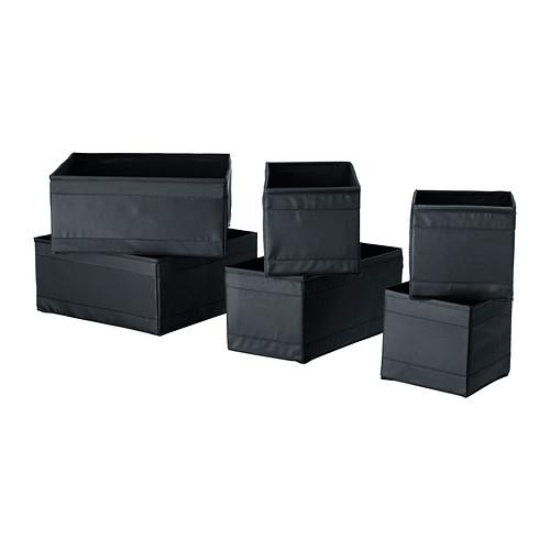 IKEASkubbStorageBoxSetof6Black