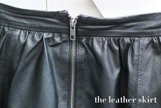 Warehouse leather skater full pleat skirt