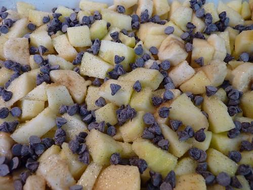 crumble pomme banane choco 01