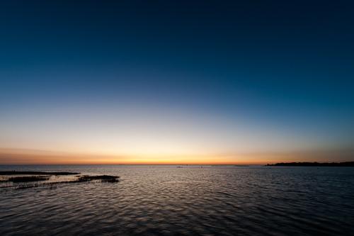 sunset sky water evening chesapeakebay mobjackbay