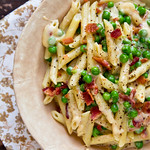 Bacon and Pea Macaroni & Cheese
