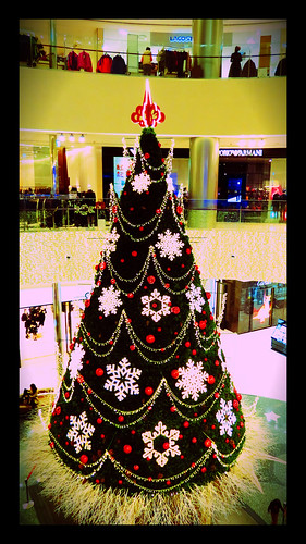 Shinsegae department store christmas tree