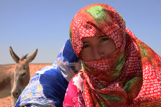 Nomad woman in the desert near M'Hamid, Morocco 2012