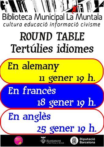 Round table @ gener by bibliotecalamuntala
