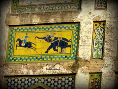 Wall Painting In Lahore Fort Punjab