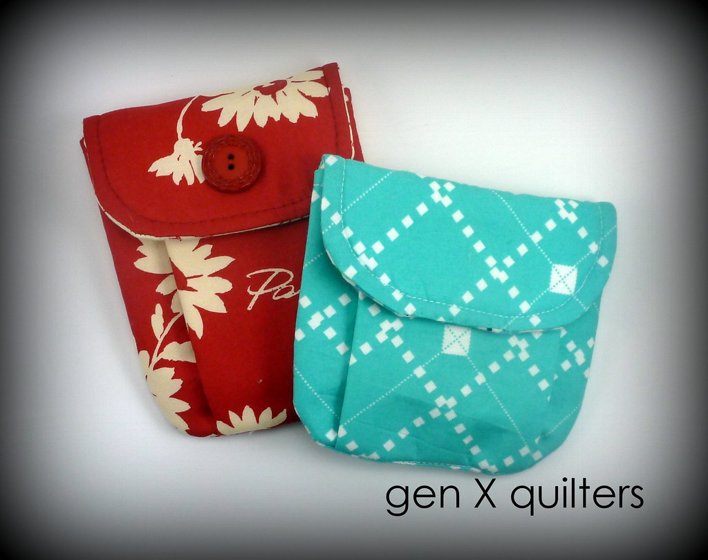 pleated pouches 2 by gen X quilters