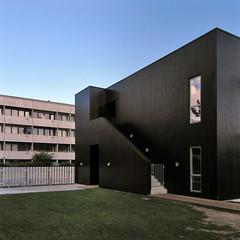 passive house kindergarten. renovation of gyldenrisparken social housing, copenhagen. vandkunsten/witraz/wissenberg 2005-2012
