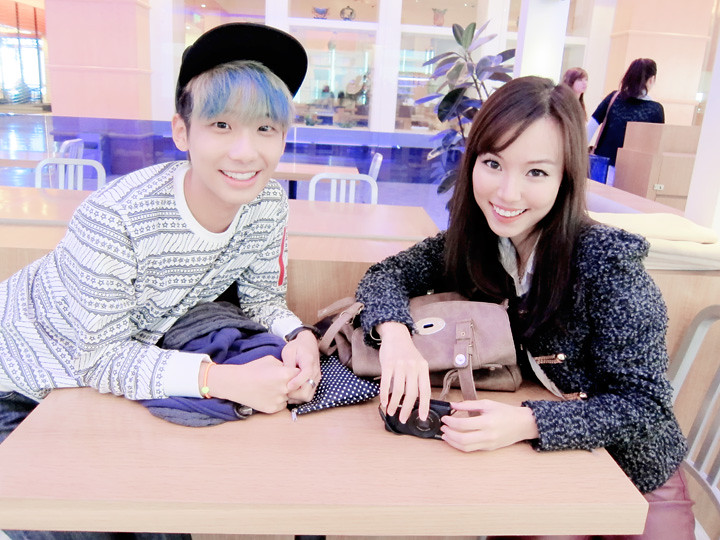 camwhore with beatrice while filming
