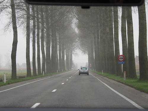 on the road in SW Belgium
