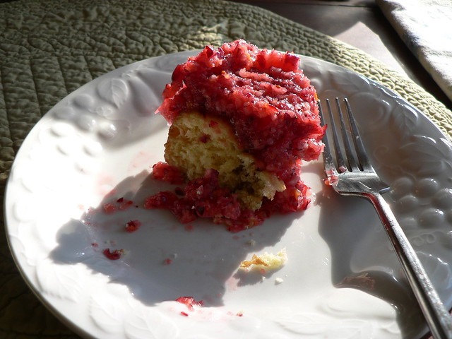 cranberry relish over cake donut.JPG