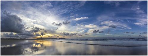 ocean sunset sea panorama mer beach island soleil coucher playa tamron canaries plage huggins famara 550d lr4