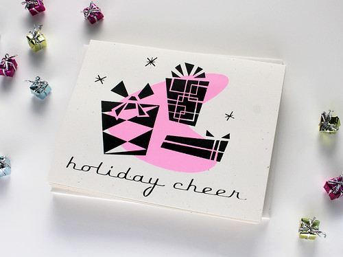 Retro Style Holiday Cheer Card