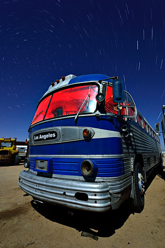 the blue bus is calling us. mojave desert, ca. 2012.