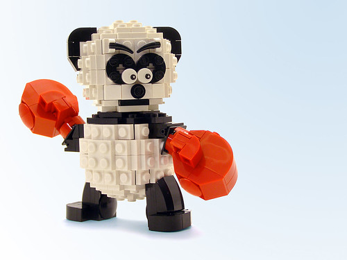 Boxing Panda by Legohaulic