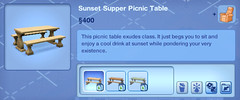 Sunset Supper Picnic Table