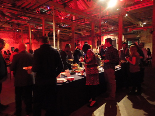 The red light dinner party in the Fermenting Cellar