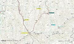 Mapa del itnerario al Molló dels Cinc Termes