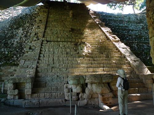 Famous Hieroglyphic Staircase - Copan - Ruinas Copan, Honduras