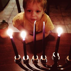 From behind the Menorah... #hanukkah #day2
