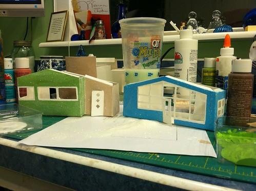 mid century modern putz house