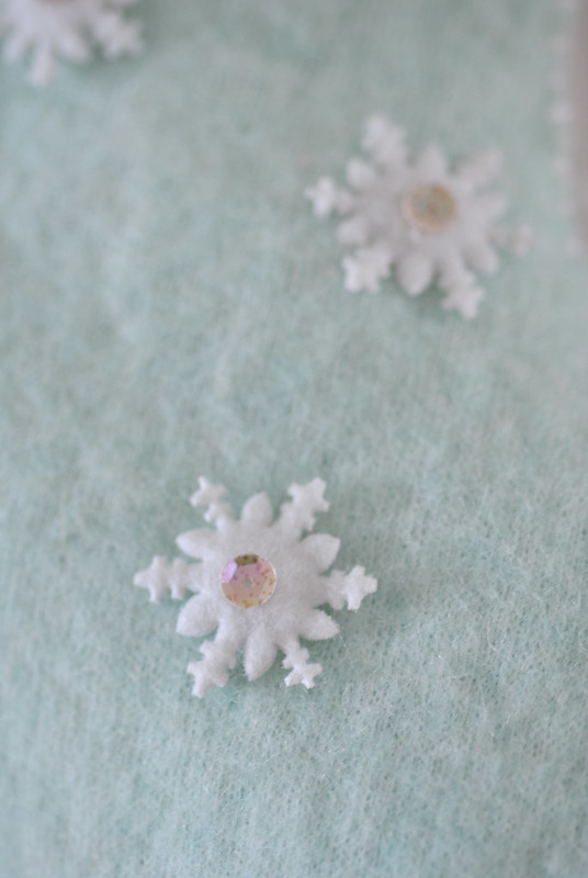 Snowflakes and sequins