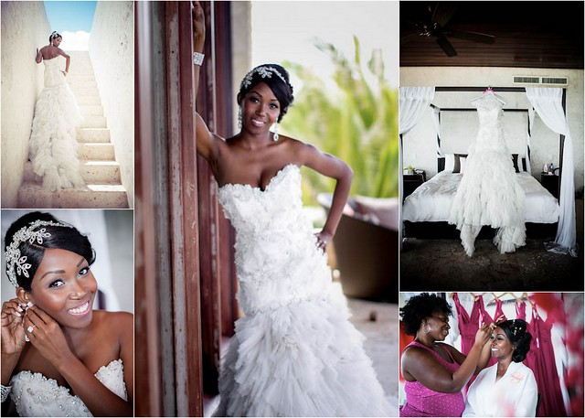 Bridal Styles bride Yanique and Samuel, photo - Gina Esposito via Essence Magazine