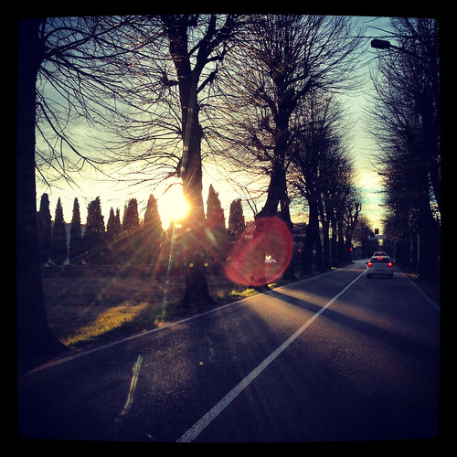 light sunrise driving squareformat emotions ontheroad iphone vittorioveneto iphone5 iphoneography