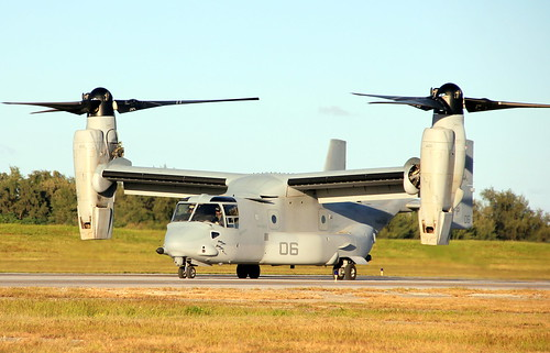 An MV-22 Osprey on Tinian's runway by aleksea