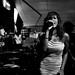 Singer, black and white, at Bondi, Samui by jwmoz