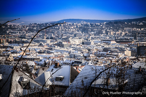 Snow-Covered Stuttgart-West by Dirk Mueller Photography
