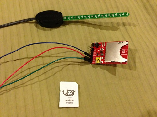 The Parts: Vegetronix Water Sensor, Spark Fun Breakout Board & Electric Imp