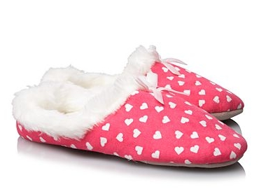 Heart Faux Fur Slippers for Girls