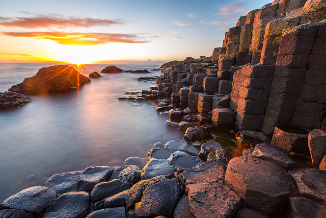 Sunset on Giant's Causeway