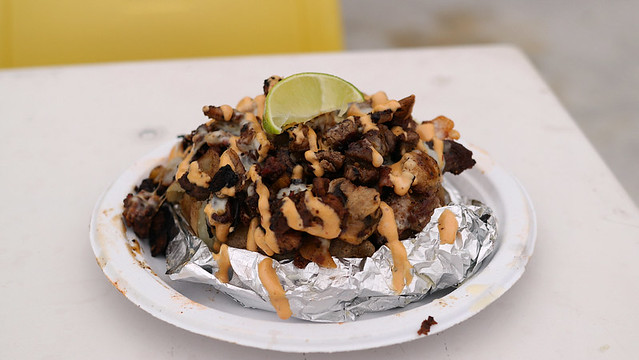 "The ""Super"" Papa Baked Potato from Jose's Tacos in Des Moines, Iowa"