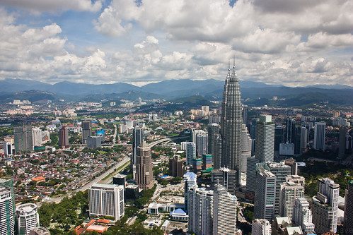 Petronas Twin Towers seen from KL tower
