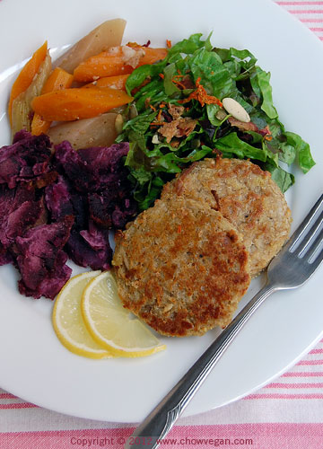 Vegan Crab Cakes Dinner