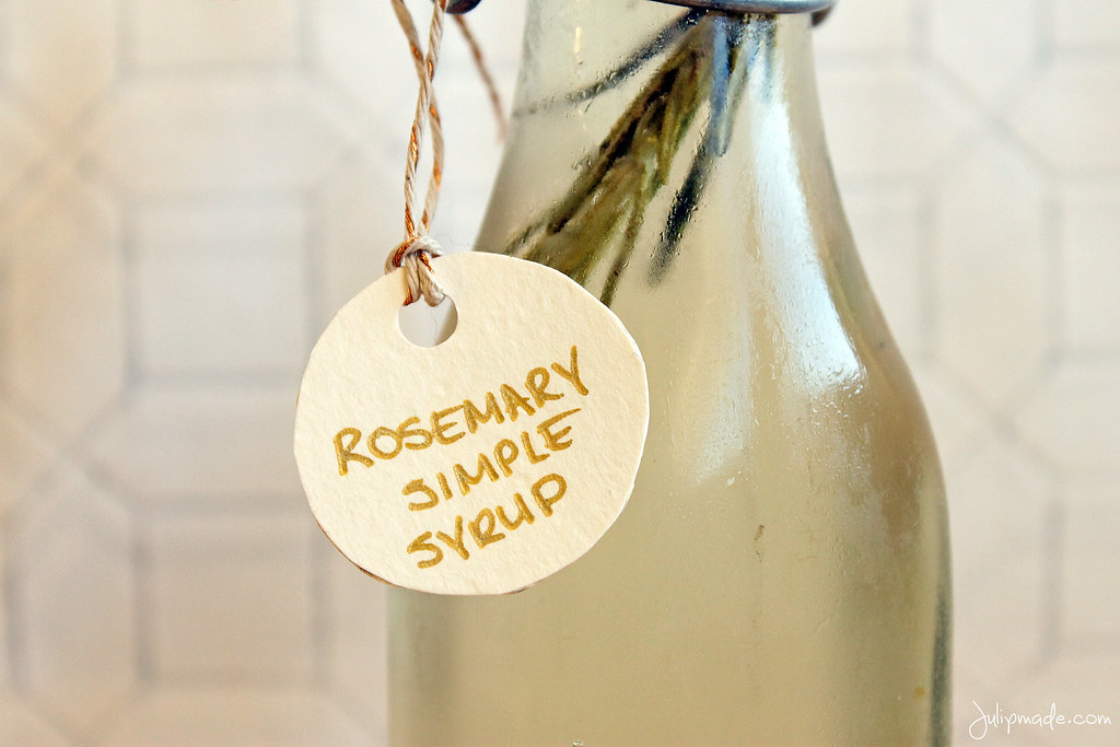 Julip Made rosemary simple syrup DIY holiday gift