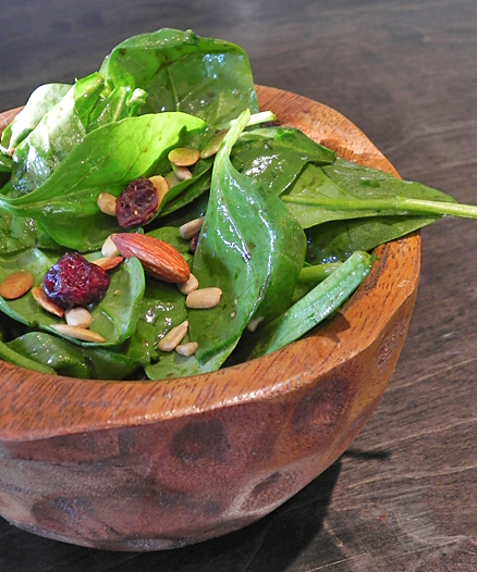 Wild Berry Spinach Salad with Balsamic Vinaigrette