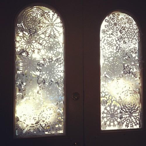 snowflake front door #yule