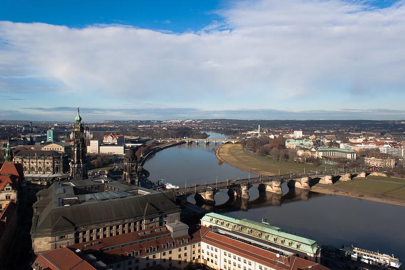 Das Elbtal in Dresden