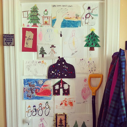 my children's art : their early work #yule #deckthehalls