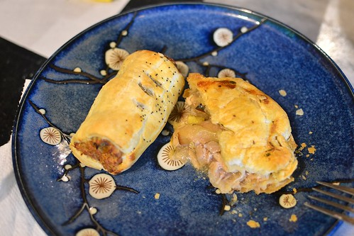 Sausage Roll and Chicken and Kumara Pie